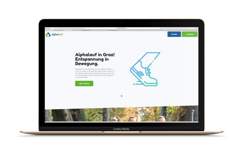 Alphalauf Website Vorschau