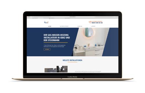 Melletz Website Vorschau