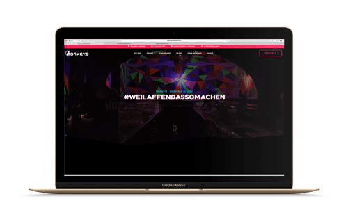 Monkeys Website Vorschau