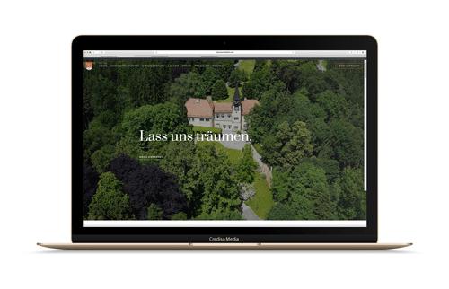 Schloss Vasoldsberg Website Vorschau